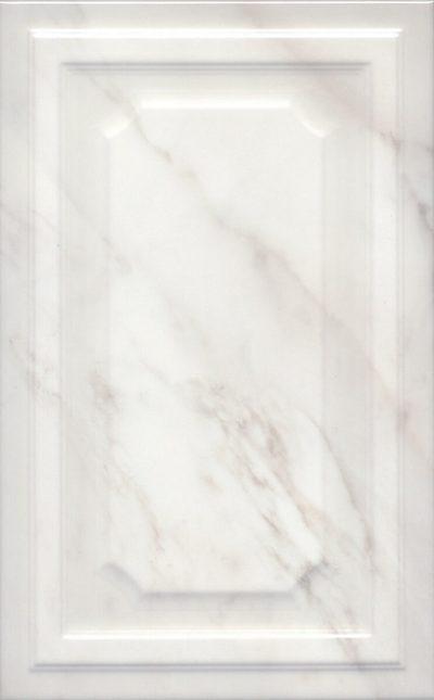 Керамическая плитка 25х40 Гран Пале белый панель 6357