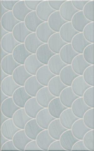 Керамическая плитка 25х40 Сияние голубой структура 6376