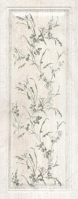 Керамическая плитка 20х50 Кантри Шик белый панель декорированный 7188