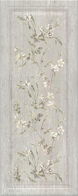 Керамическая плитка 20х50 Кантри Шик серый панель декорированный 7189