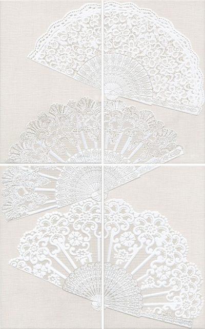 Декор Панно 50x80 Мерлетто Кружево HGD\A204\4x\6322