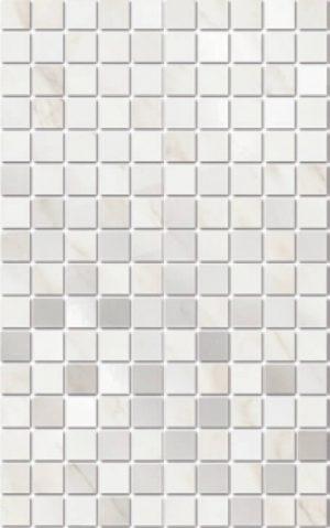 Керамический декор мозаичный 25х40 Гран Пале белый мозаичный MM6359