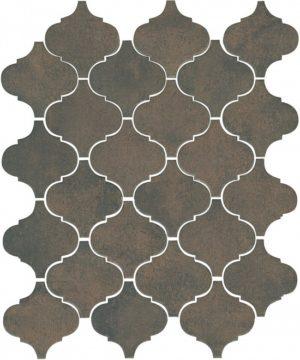 Керамическая плитка мозаичная 26х30 Арабески котто коричневый 65004