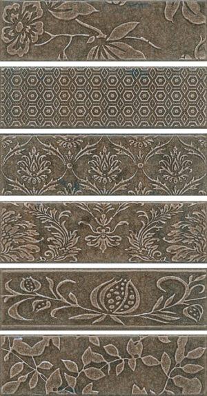 Декор Панно 51x28,5 Кампьелло серый из 6 частей 8,5х28,5 (размер каждой части) AD\C333\6x\2926