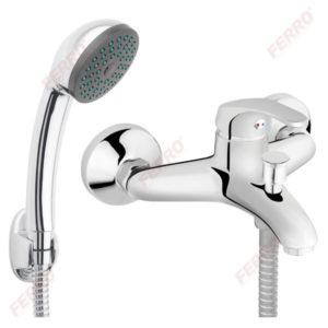 Смеситель для ванны с душевым комплектом FERRO BASIC BBC11