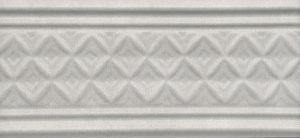 Керамический бордюр 15х6,7 Пикарди структура серый LAA003