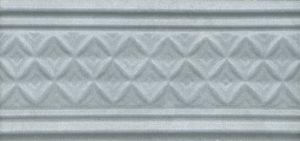 Керамический бордюр 15х6,7 Пикарди структура голубой LAA004