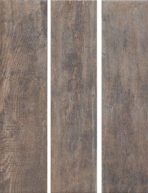 Керамический гранит 9,9х40,2 Браш Вуд коричневый темный SG401300N