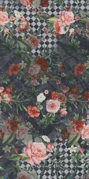 Керамический гранит 119,5х238,5 Цветы декорированный обрезной SG590500R