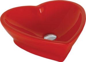 Умывальник на столешницу CREAVIT HEART TP149.70100 красный