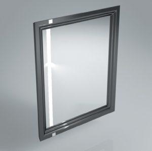 Зеркало с подсветкой и сенсором POMPEI 60 см BLK