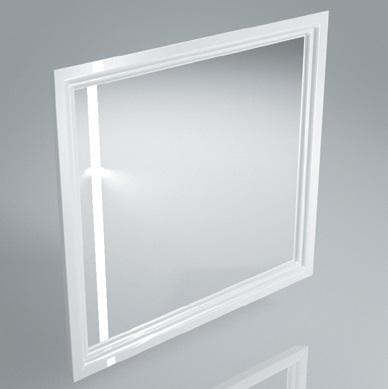 Зеркало с подсветкой и сенсором POMPEI 80 см WHT
