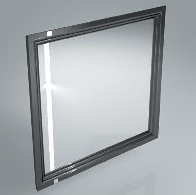 Зеркало с подсветкой и сенсором POMPEI 80 см BLK