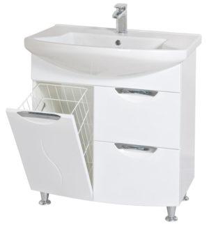 05GL75(H) Шкаф под умывальник для ванной в комплекте с умывальником мебельным Evita 75 Akva Rodos