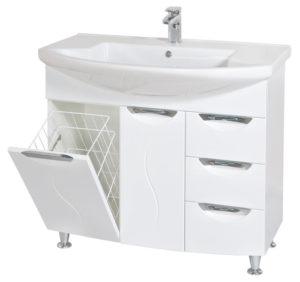 05GL90(H) Шкаф под умывальник для ванной в комплекте с умывальником мебельным EVITA 90 Akva Rodos