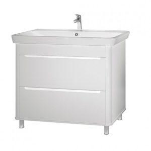 Шкаф Авалон 100 см под умывальник для ванной комнаты с умывальником мебельным 030700-u Belo, 97 cm Akva Rodos