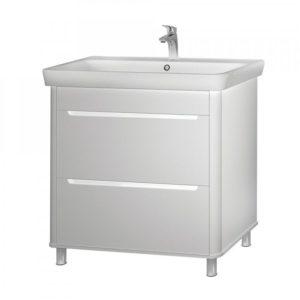 Шкаф Авалон 80 см под умывальник для ванной комнаты с умывальником мебельным 030700-u Belo, 81 cm Akva Rodos