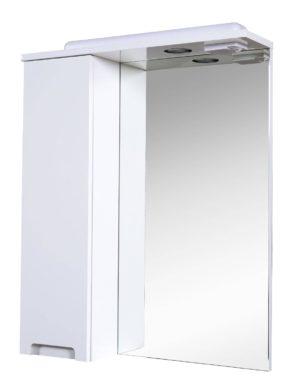 Шкаф настенный Квадро 60 (L) - шкаф настенный с зеркалом для ванной комнаты Akva Rodos
