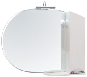 ZGLP(R)105 Шкаф настенный с зеркалом и подсветкой для ванной LED Omega 4.5W, хром Akva Rodos