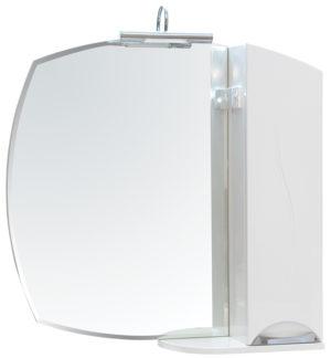 ZGLP(R)75 Шкаф настенный с зеркалом и подсветкой для ванной LED Omega 4.5W, хром Akva Rodos