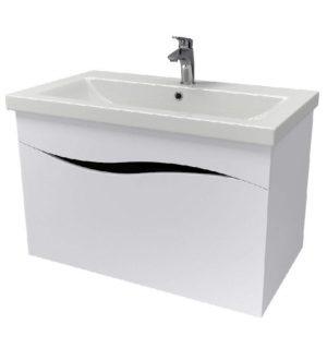 Шкаф Альфа 80 см консольный под умывальник для ванной комнаты с умывальником мебельным COMO 80 Akva Rodos