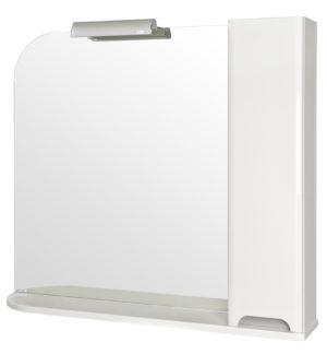 Шкаф Бостон 95 (R) настенный с зеркалом для ванной комнаты в комплекте с подсветкой LORENA Akva Rodos