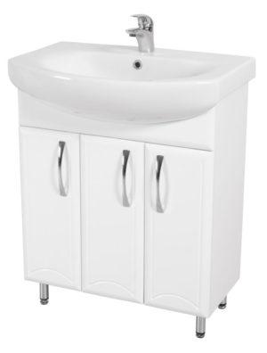Шкаф Декор 70 - шкаф под умывальник для ванной комнаты в комплекте с умывальником L81970000 RUNA 70 Akva Rodos